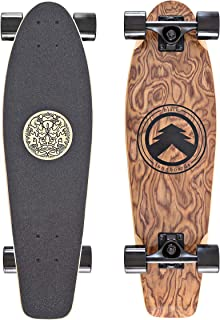 Black Longboards Collection | Longboard Skateboard Complete | Exotic Wood with Canadian Maple Core | Cruising, Carving, Freestyle, Dancing, Downhill, Freeride