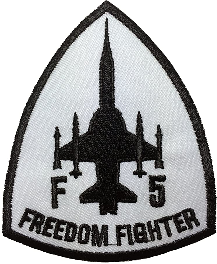 F-5 Freedom Fighter Tiger II Embroidered Sew Iron on Patch - White by Ranger Return (F5-WHITE)