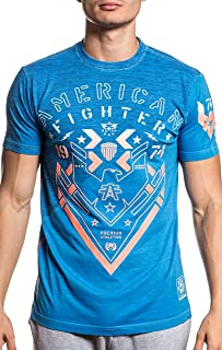 American Fighter FM8078 Callaway Short Sleeve Panel Tee in Optic Blue Pigment Dye