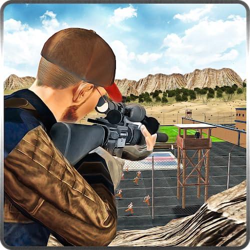 Prison Escape Sniper Missão Regras de Sobrevivência na Arena Shooter Jogo 3D: Tiro & Kill Cops Attack Em Battle Simulator Aventura Jogo de Ação
