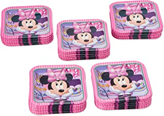 American Greetings Minnie Mouse Party Supplies Disposable Paper Dessert Plates, 40-Count