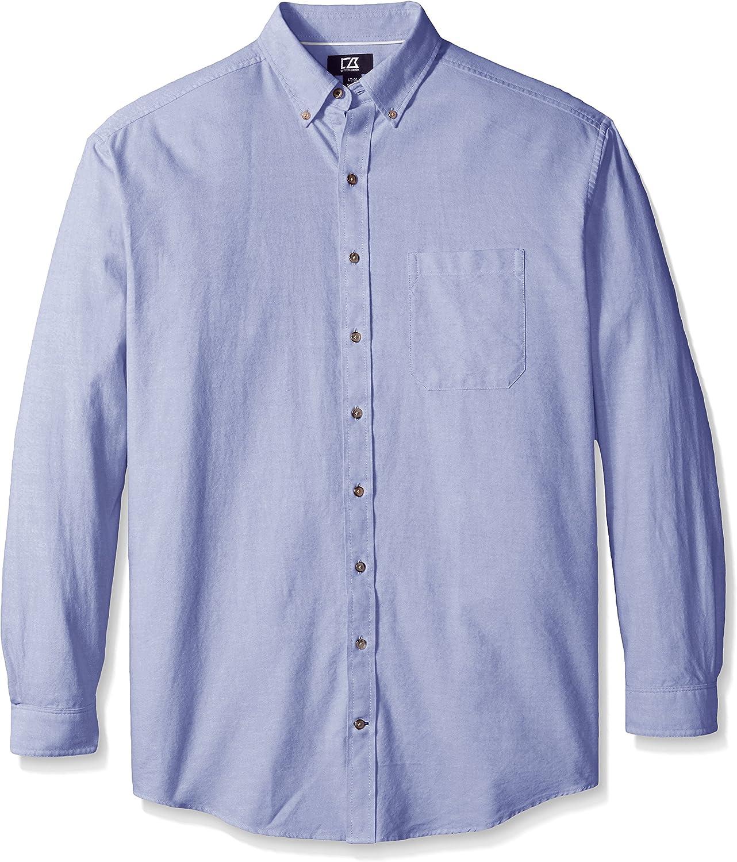 Cutter & Buck Men's Big and Tall Long Sleeve Oxford Shirt