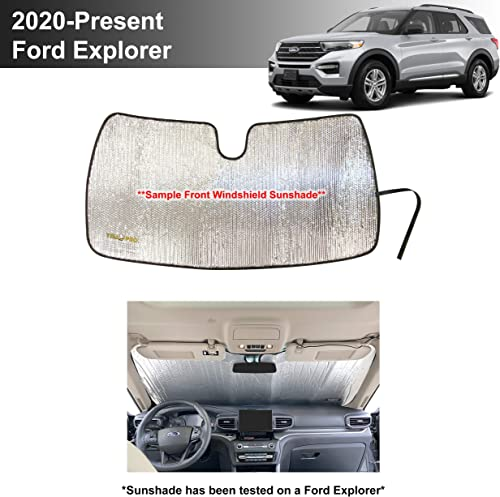 2021 YelloPro Custom Fit online Reflective Front Windshield Sunshade for 2020 2021 Ford Explorer SUV, ST new arrival XLT, Limited, Platinum, Sun Shade Accessories [Made in USA] online sale