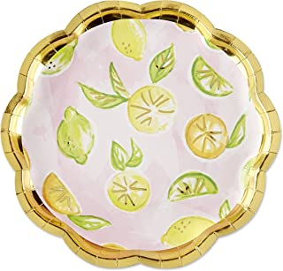 Kate Aspen 28394NA Paper Plates, One Size, Pink/Gold/Green/Yellow/Orange