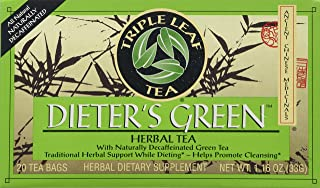 Triple Leaf Tea, Dieter's Green, 20 Tea Bags (Pack of 6)