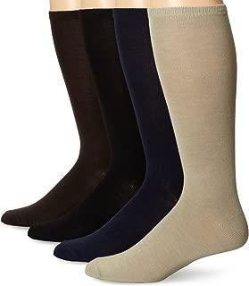"Muk Luks Men's 13"" Rayon from Bamboo 4 Pair Sock Pack"