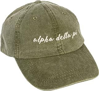 Alpha Delta Pi (N) Sorority Baseball Hat Cap Cursive Name Font ADPi (Cactus)