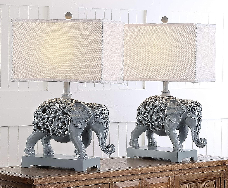 Safavieh Lighting Collection High material Hathi Elephant Light shopping Grey Sculpture