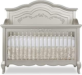 silver metal crib