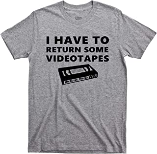 American Psycho T Shirt I Have to Return Some Videotapes Patrick Bateman Serial Killer Comedy Horror Movie Tee