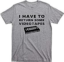 American Psycho T Shirt I Have to Return Some Videotapes Patrick Bateman Serial Killer Comedy Horror Movie Tee