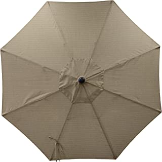 Secret Garden Home Goods 9ft 8 Ribs Market Umbrella Replacement Canopy (Sunbrella- Taupe)