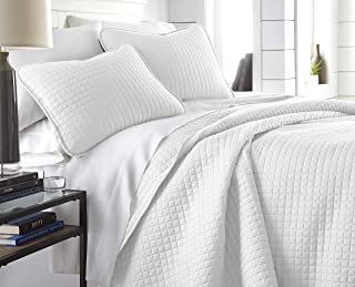 Southshore Fine Linens - Vilano Springs Oversized 3 Piece Quilt Set, King/California King, Bright White