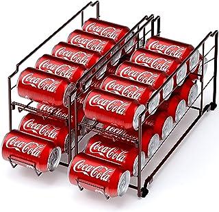 2 Pack – Stackable Beverage Soda Can Dispenser Organizer Rack, Bronze