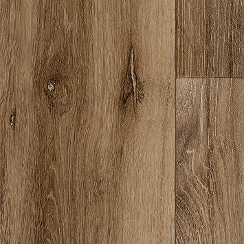 200 Vinylboden PVC Bodenbelag 300 und 400 cm Breite Meterware Variante: 2,5 x 2m Holzoptik Diele Eiche dunkel-braun