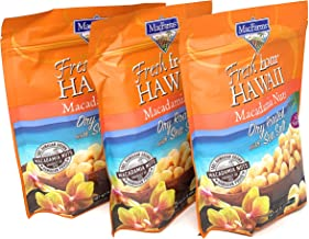MacFarms Dry Roasted Macadamia Nuts With Sea Salt Fresh From Hawaii 24 Ounce (3 Pack)