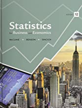 Statistics and Student's Solutions Manual (12th Edition)