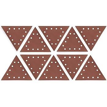 """WEN 6377SP240 Drywall Sander 240-Grit Hook & Loop 11-1/4"""" Triangle Sandpaper, 10 Pack"""