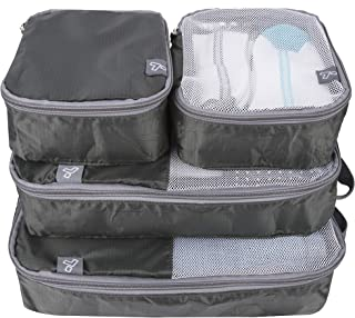 Travelon: Set of 4 - Soft Packing Organizers - Charcoal
