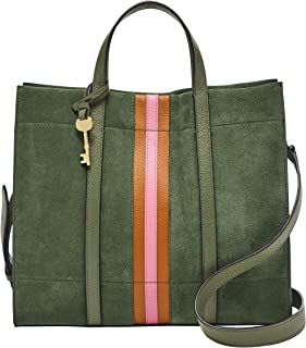 Fossil Carmen Leather 30.81 cms Green Gym Tote (ZB6505355)