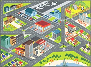 """Kev & Cooper Playtime Collection Road Map Educational Area Rug – 5'0"""".."""