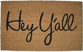 Tag Hey Y'all PVC Coir Doormat Mat