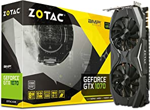 ZOTAC GeForce GTX 1070 AMP! Edition, ZT-P10700C-10P, 8GB GDDR5 IceStorm Cooling VR Ready Gaming Graphics Card (Renewed)