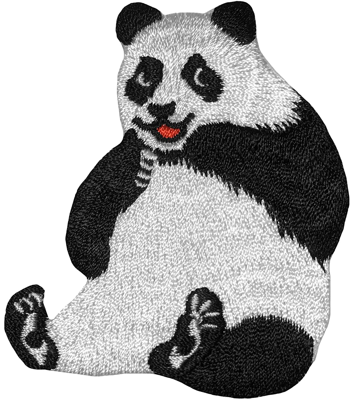 Papapatch Cute Panda Bear Cartoon Animal Wild Embroidered Applique DIY Sign Badge Sew on Iron on Patch (IRON-PANDA)