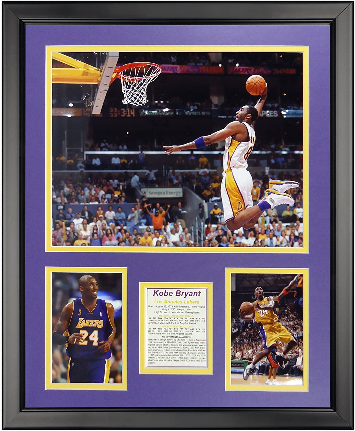 Legends Never Die Kobe Bryant - Photo Framed Dunk Mail order Complete Free Shipping 16