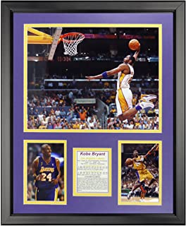 """Kobe Bryant - Dunk 16"""" x 20"""" Framed Photo Collage by Legends Never Die, Inc."""