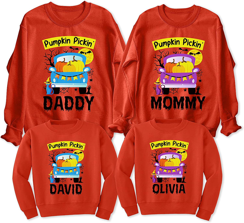 Custom Pumkin Pickin' Funny Truck Halloween Brand new Sweatshirt Pickup Ranking TOP5