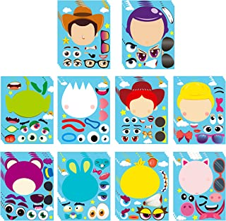 MALLMALL640Pcs Toy 4 MakeaFaceStickersDIYPartyFavorsGames Toy 4th Themed Birthday Party Supplies Decorations Stick...