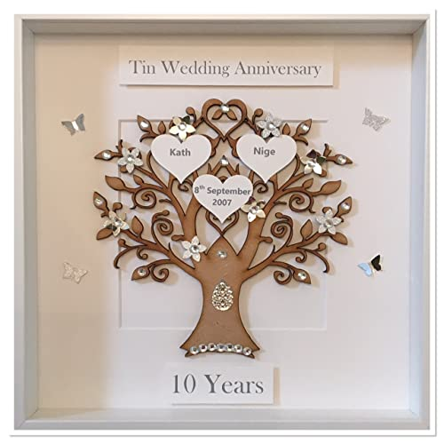 10 Year Wedding Anniversary Tin Gifts: 10 Years Wedding Anniversary Gifts: Amazon.co.uk