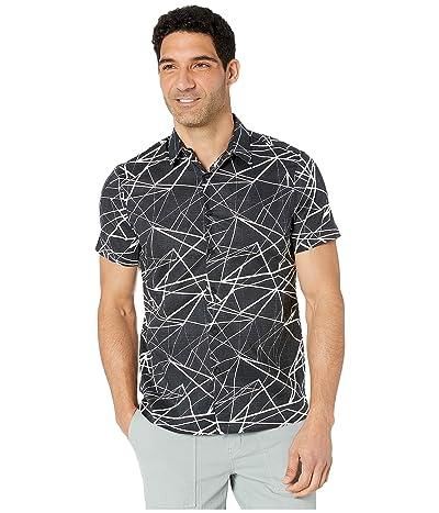 Perry Ellis Portfolio Shattered Labyrinth Print Shirt (Black) Men