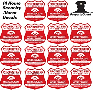 14 Home Security Alarm Stickers for Windows & Doors Lifetime Replacement!