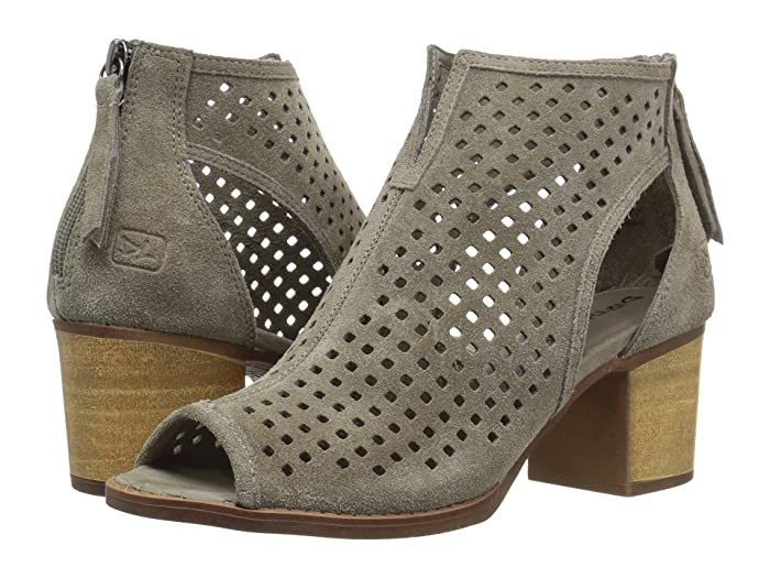 Dirty Laundry  Tessa Peep Toe Bootie (Grey) Womens Dress Lace-up Boots
