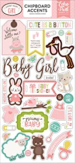 Echo Park Paper Company Sweet Baby Girl 6x13 Chipboard Accents