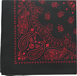 Classic Trainmen Paisley Bandanas, Military Army Head Scarf Do-rag Cotton Bandanna Cover Biker Rags