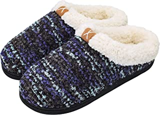 Women's Comfort Memory Foam Slippers Plush Lined House Shoes Indoor, Outdoor..