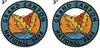 Grand Canyon National Park Series 2-Pack Embroidered Patch Iron-on Sew-on Explore Nature Outdoor Adventure Explorer Souvenir Travel Vacation Emblem Badge