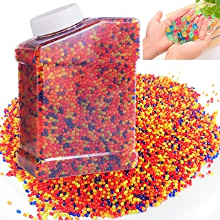 Cp-Tree 50000 pcs Water Gun Bullets Beads Rainbow Mix Jelly Water Growing Balls for Kids Tactile Sensory Toys, Vases, Plants, Wedding, Party (11-13 mm)