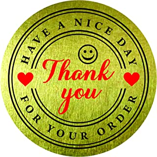 Thank You for Your Order Purchase Have a Nice Day Stickers 1.5