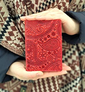 Passport Cover Real Leather Paisley Print Leather Passport Holder Handmade Travel Wallet ID Cover Red Case Gift Red Wallet Red Cover Turtle Barefoot