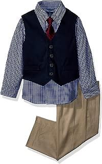 Nautica Baby Boys Patterned Four-Piece Dress Vest Set
