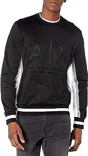 ARMANI EXCHANGE Black Embossed Logo Sweatshirt