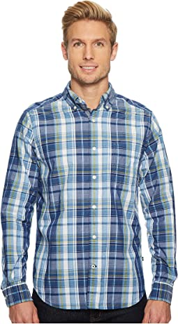 Nautica - Long Sleeve Large Scale Plaid Shirt