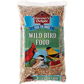 Wagner's 53002 Farmer's Delight Wild Bird Food With Cherry Flavor, 10-Pound Bag