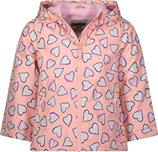 Girls' Midweight Hooded Fashion Jacket Coat with Fleece...