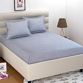 Krishnam Home Microfiber 144 TC Bedsheet (Grey_Double)