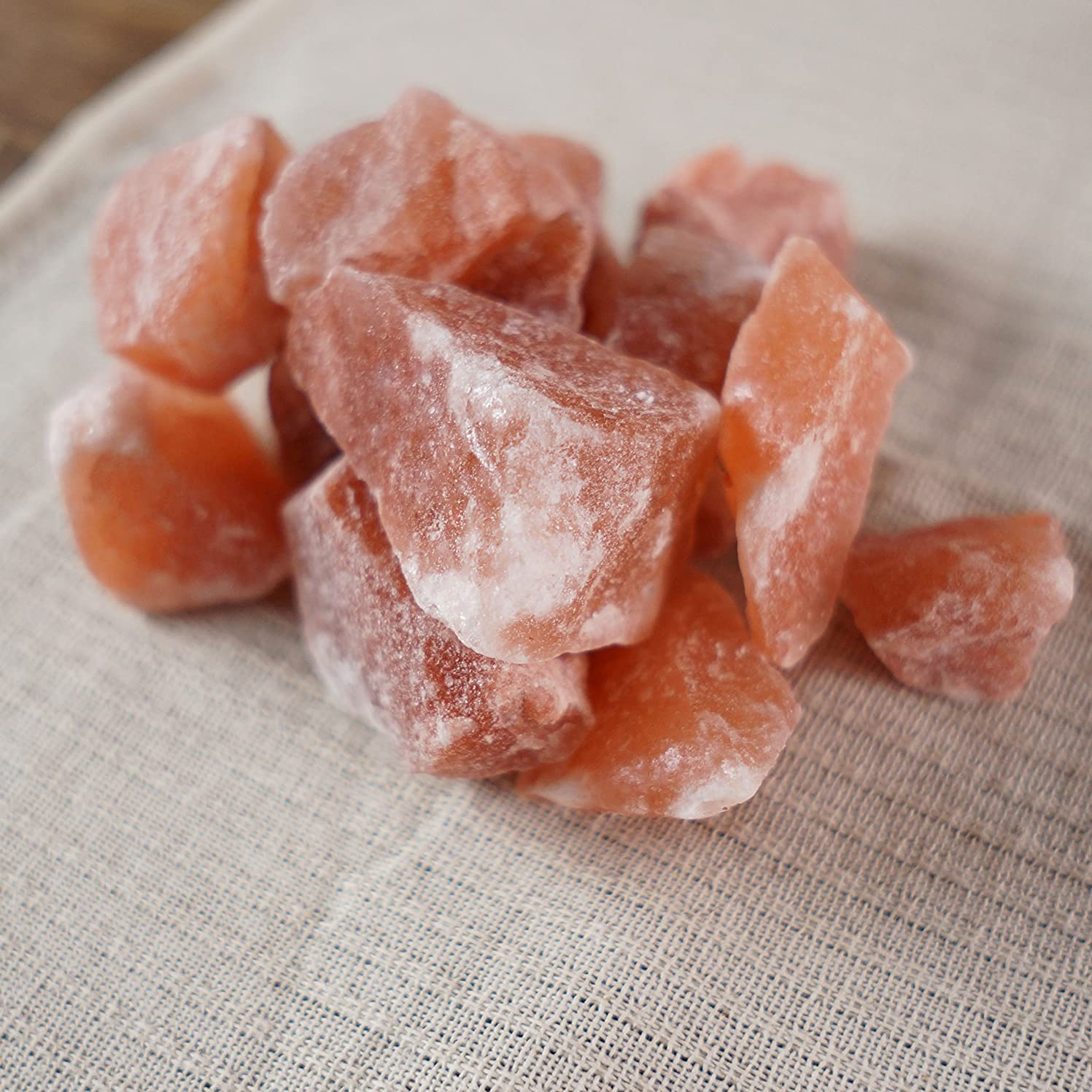ラウズ効果幸運ヒマラヤ岩塩 ピンク ブロック 約2-5cm 10kg 10,000g 塊 原料